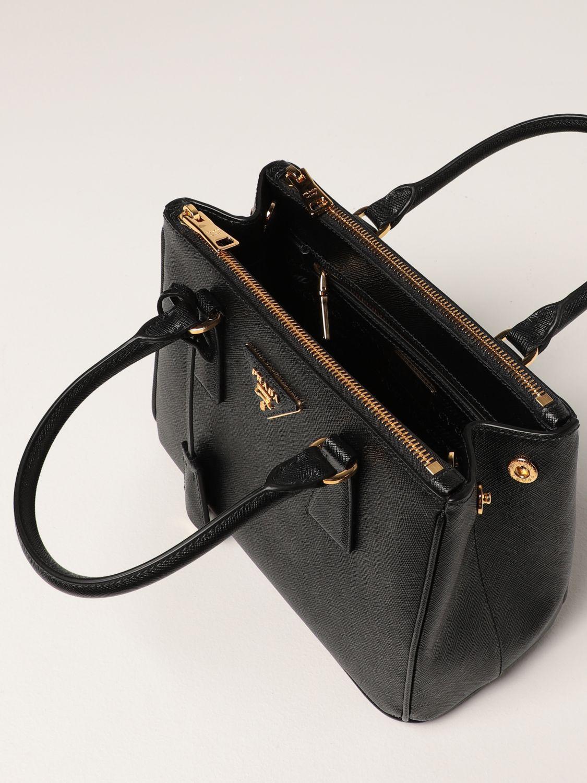 Borsa mini Prada: Borsa Galleria Prada in pelle saffiano nero 5