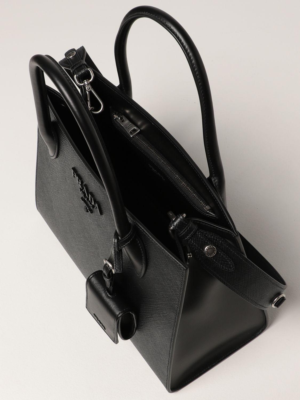 Borsa a mano Prada: Borsa Monochrome Prada in pelle saffiano nero 5