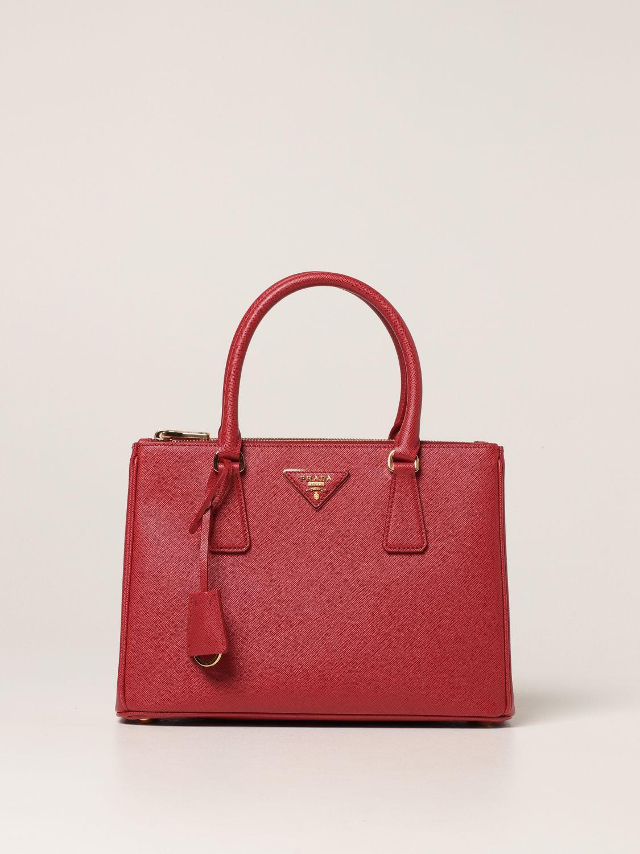 Borsa a mano Prada: Borsa Galleria Prada medium in pelle saffiano rosso 1