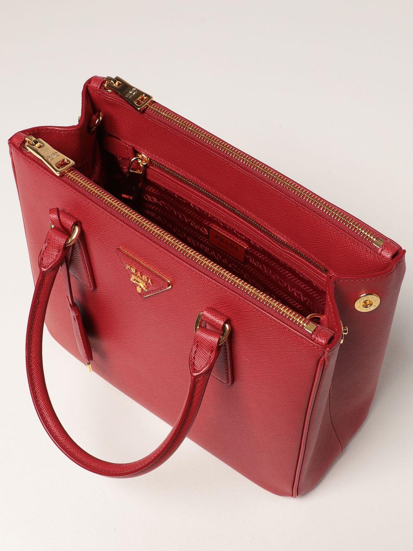 Borsa a mano Prada: Borsa Galleria Prada medium in pelle saffiano rosso 5
