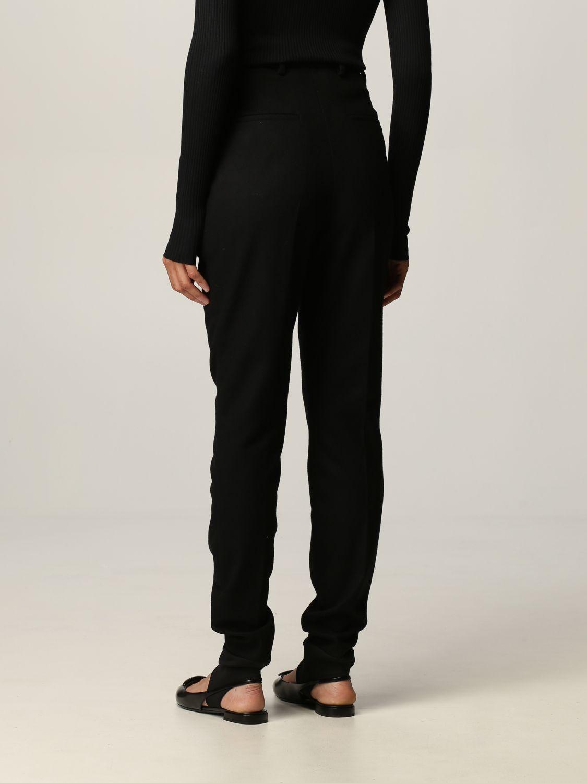 Pantalone Prada: Flanella stretch skinny con ghette nero 3