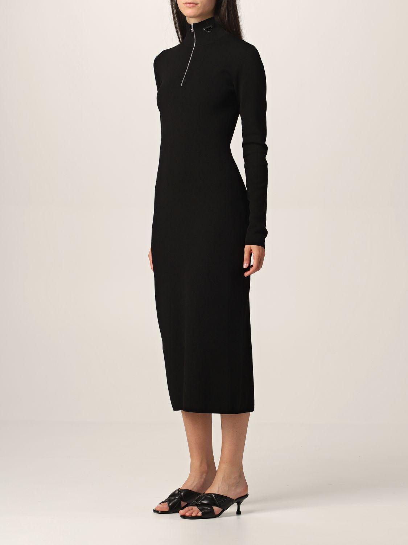 Abito Prada: Abito a dolcevita Prada in misto lana con zip nero 3