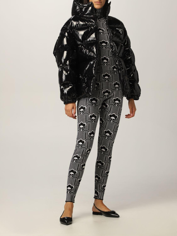 Giacca Prada: Piumino nylon lucido padded con cappuccio nero 2