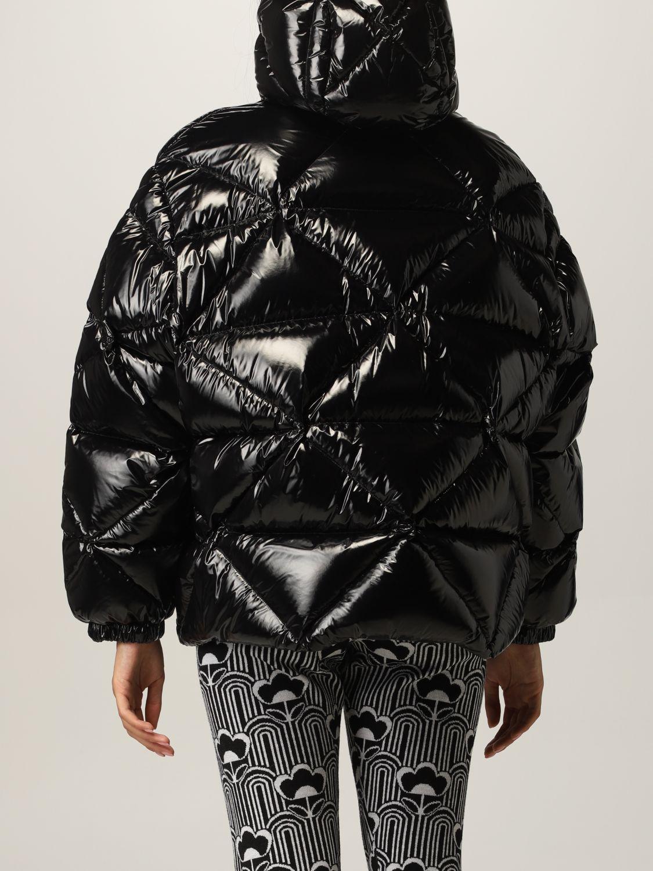 Giacca Prada: Piumino nylon lucido padded con cappuccio nero 3