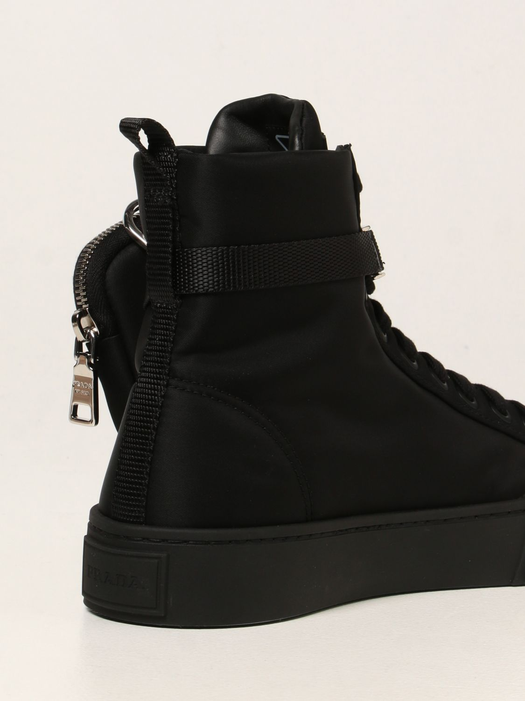 Sneakers Prada: Sneakers a polacco Wheel Prada in gabardine Re-Nylon nero 3