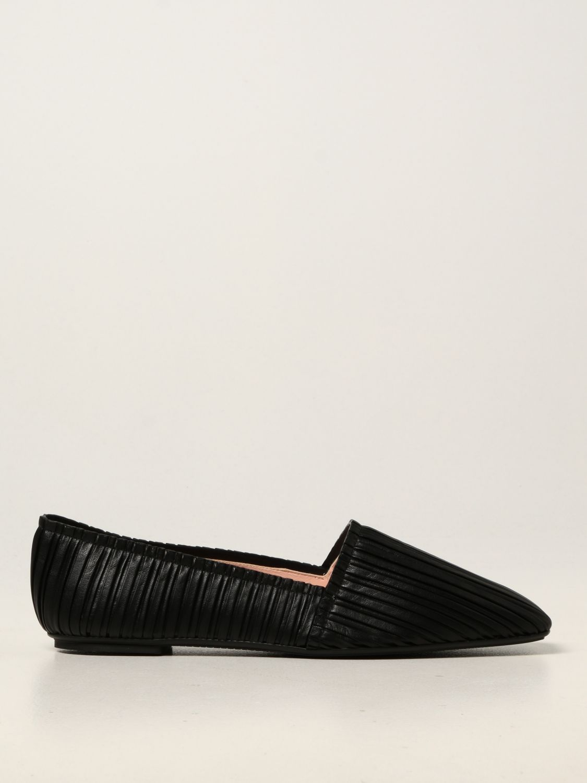 Ballet pumps Rodo: Rodo flat ballerina in pleated nappa black 1