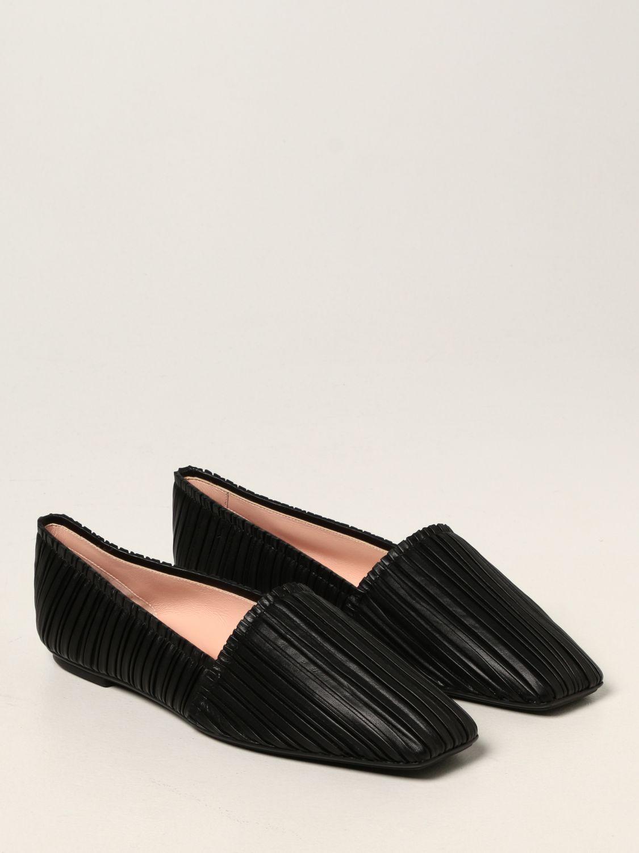 Ballet pumps Rodo: Rodo flat ballerina in pleated nappa black 2