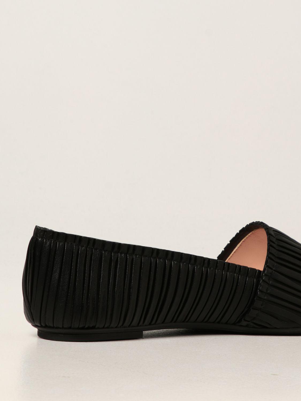 Ballet pumps Rodo: Rodo flat ballerina in pleated nappa black 3