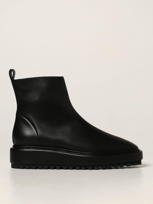 Flat booties Rodo: Rodo ankle boot in calfskin black 1
