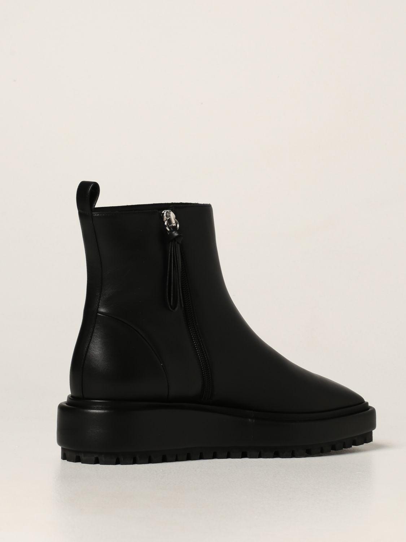 Flat booties Rodo: Rodo ankle boot in calfskin black 3