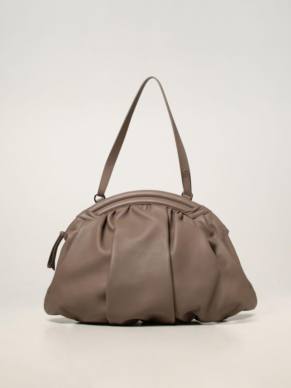 Shoulder bag Rodo: Rodo pouch in hammered calfskin dove grey 1
