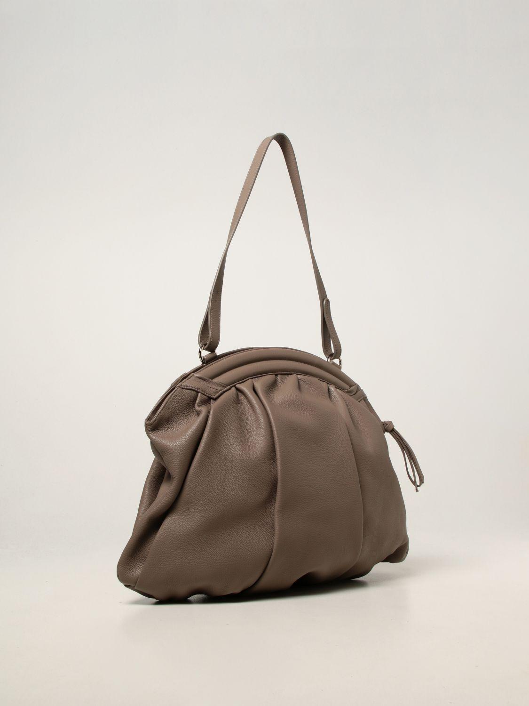 Shoulder bag Rodo: Rodo pouch in hammered calfskin dove grey 2