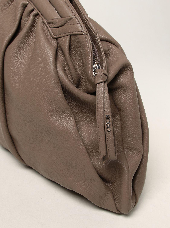 Shoulder bag Rodo: Rodo pouch in hammered calfskin dove grey 3