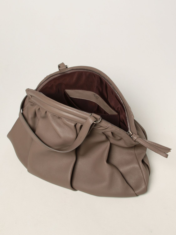 Shoulder bag Rodo: Rodo pouch in hammered calfskin dove grey 4