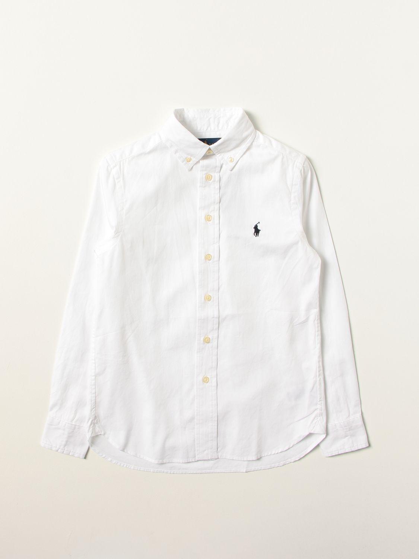 Рубашка Polo Ralph Lauren: Рубашка Детское Polo Ralph Lauren белый 1