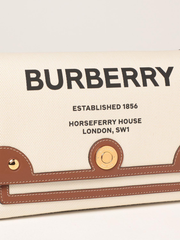 Borse a tracolla Burberry: Borsa a tracolla Note Burberry in canvas con stampa Horseferry naturale 4
