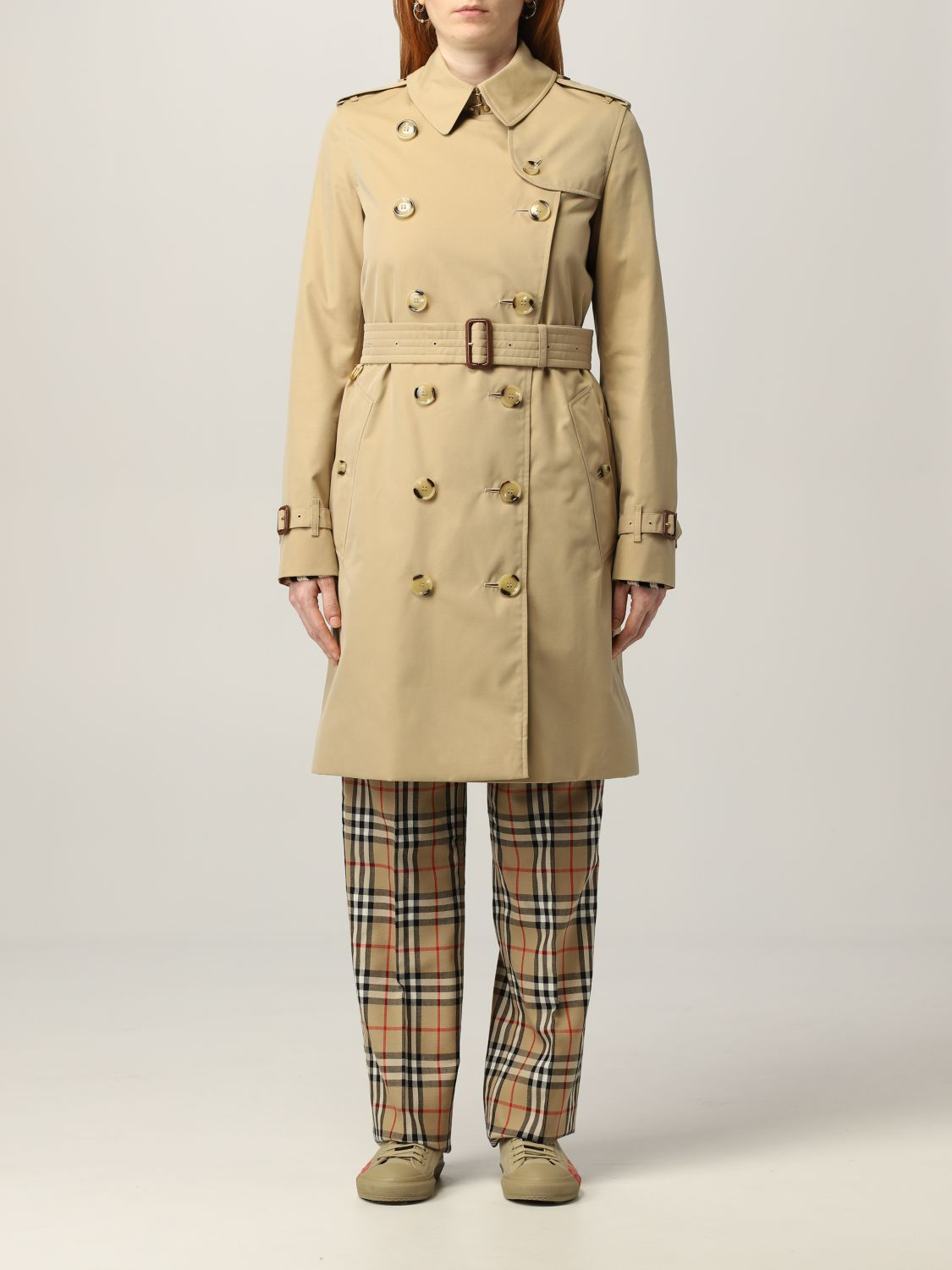 Trench Burberry: Trench The Kensington medio Burberry beige 1
