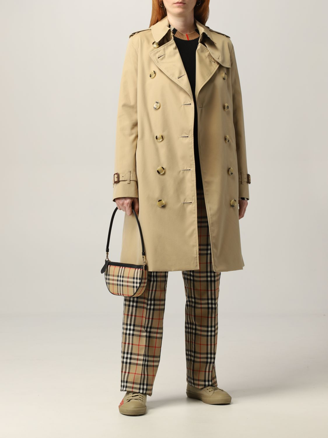 Trench Burberry: Trench The Kensington medio Burberry beige 2