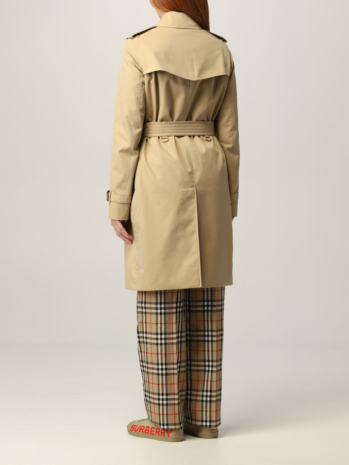 Trench Burberry: Trench The Kensington medio Burberry beige 3