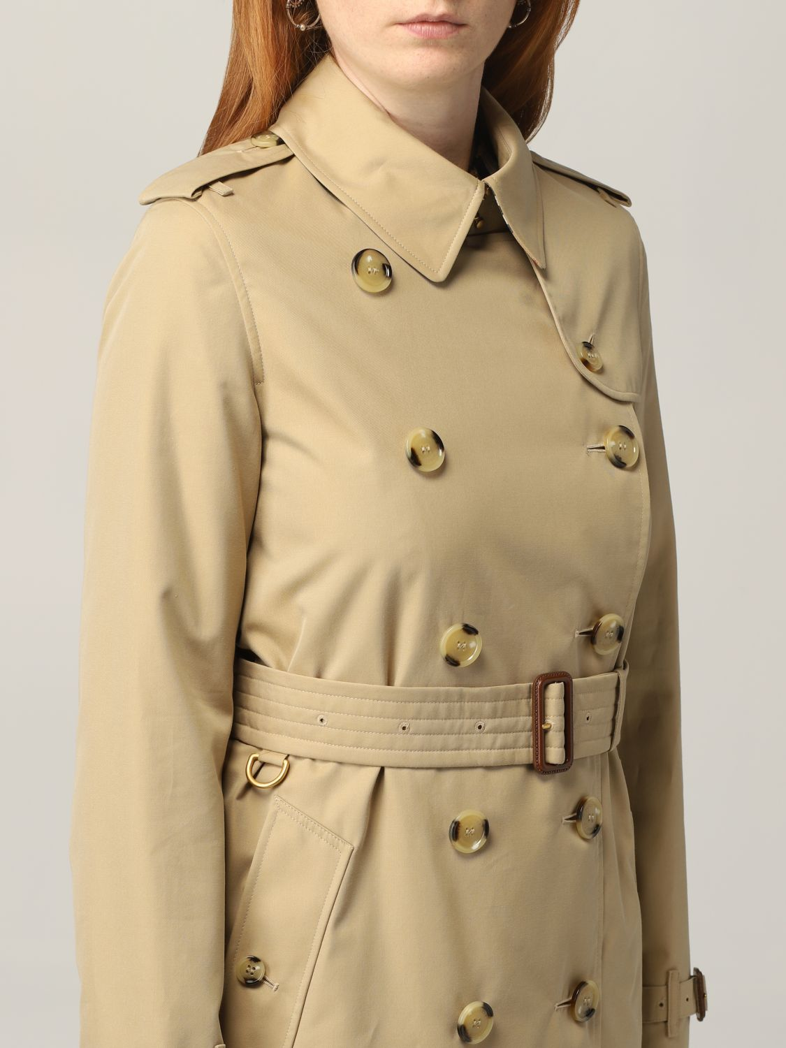 Trench Burberry: Trench The Kensington medio Burberry beige 5
