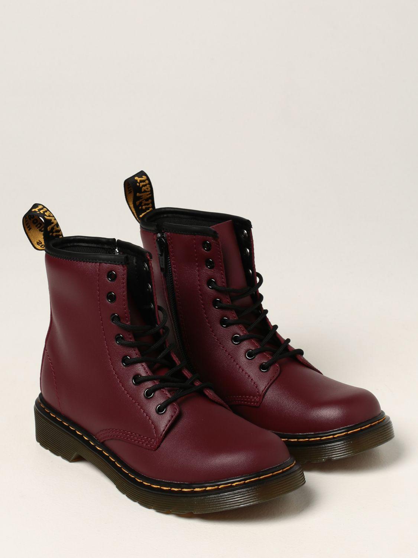 Shoes Dr. Martens: Amphibious 1460 J Dr. Martens in leather burgundy 2