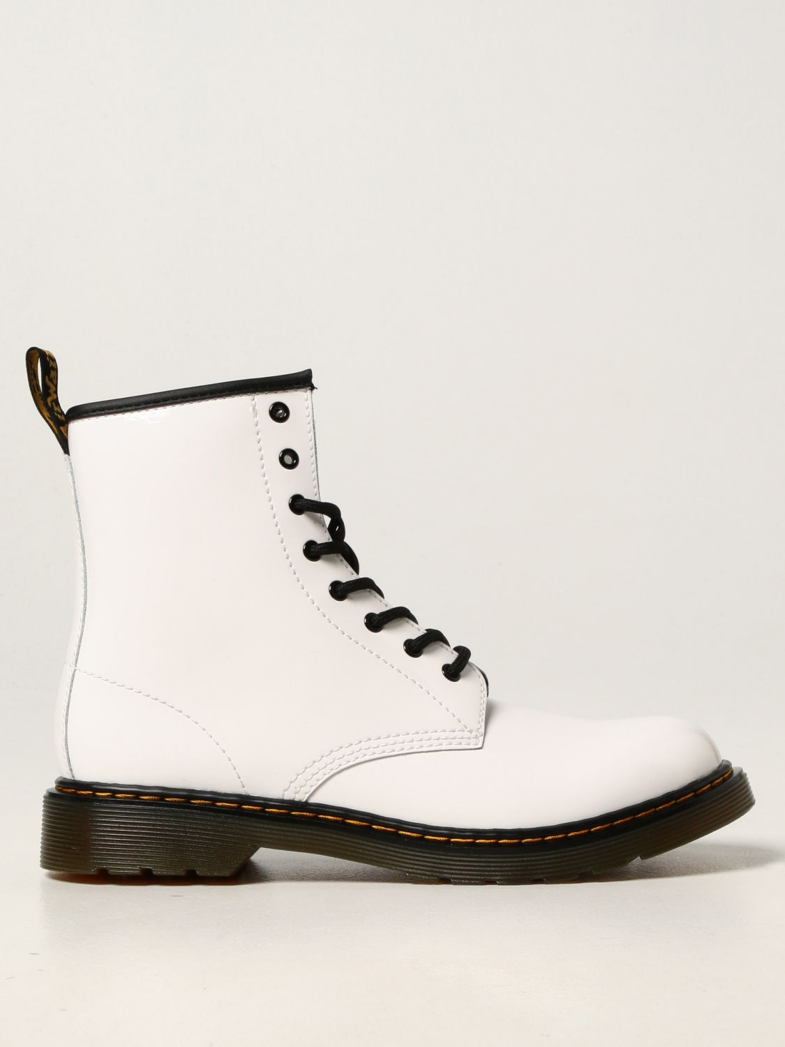 Shoes Dr. Martens: 1460 Dr. Martens ankle boots in patent leather white 1