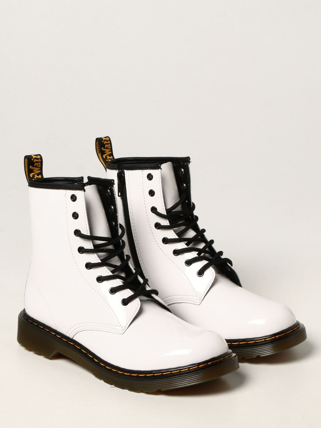 Shoes Dr. Martens: 1460 Dr. Martens ankle boots in patent leather white 2