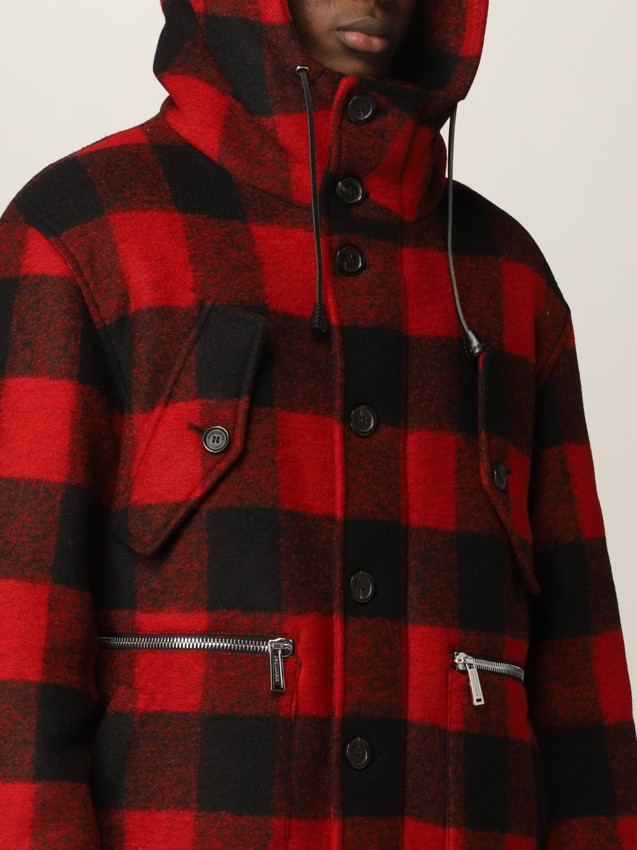 Cappotto Dsquared2: Cappotto Dsquared2 in misto lana tartan rosso 5