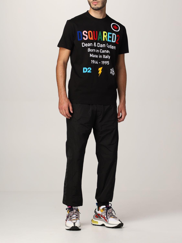 T-shirt Dsquared2: T-shirt Born In Canada Dsquared2 in cotone nero 2