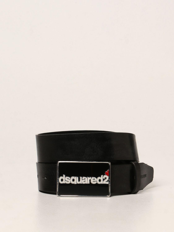 Cintura Dsquared2: Cintura Dsquared2 in pelle nero 1