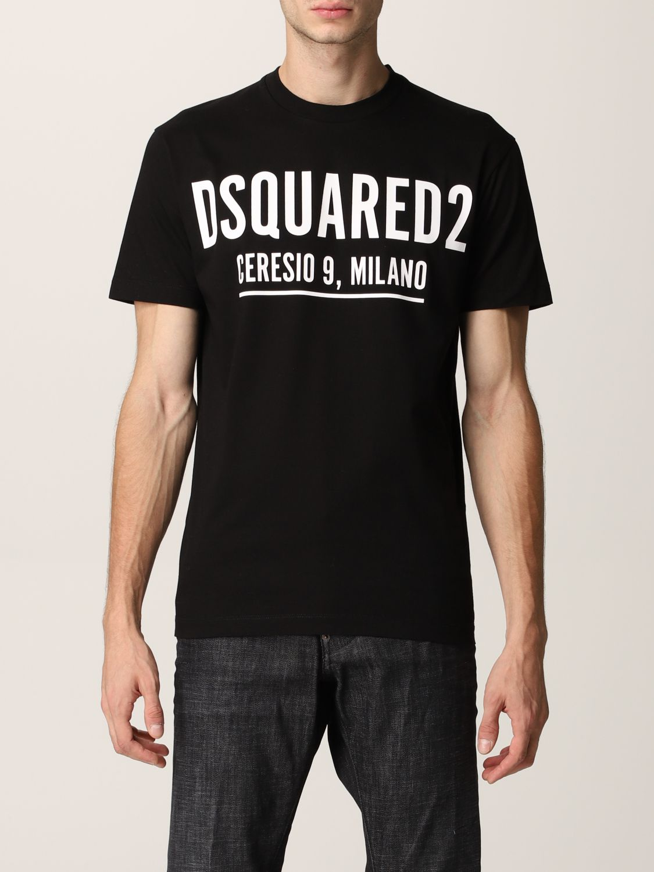 T-shirt Dsquared2: T-shirt Dsquared2 in cotone con logo nero 1