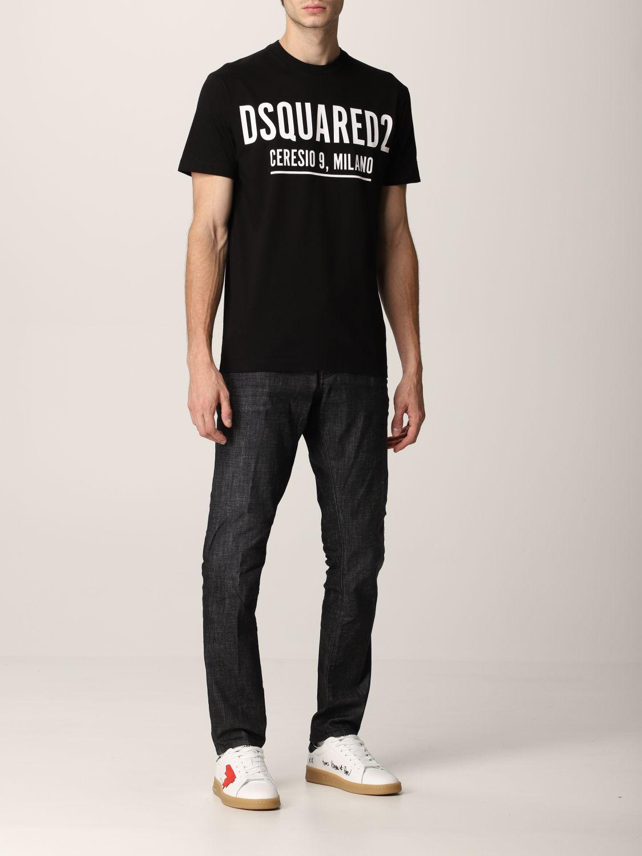T-shirt Dsquared2: T-shirt Dsquared2 in cotone con logo nero 2
