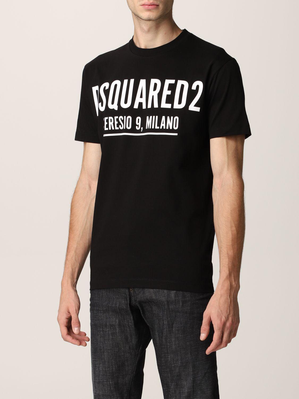T-shirt Dsquared2: T-shirt Dsquared2 in cotone con logo nero 4