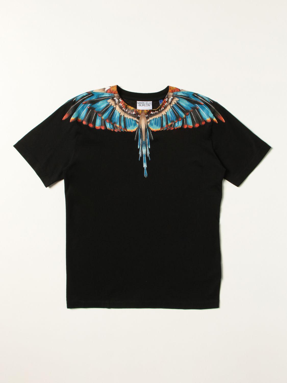 T-shirt Marcelo Burlon: T-shirt Marcelo Burlon County of Milan in cotone con stampa Ali nero 1