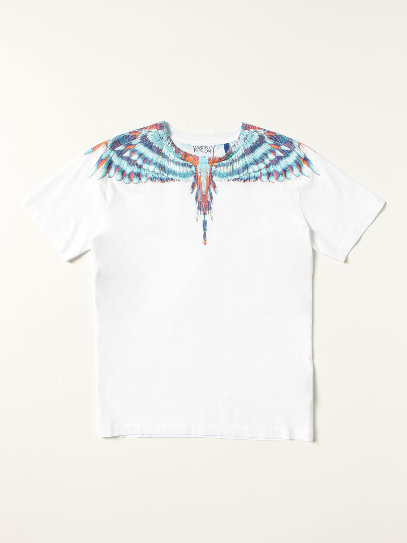 T-shirt Marcelo Burlon: T-shirt Marcelo Burlon County of Milan in cotone con stampa Ali bianco 1