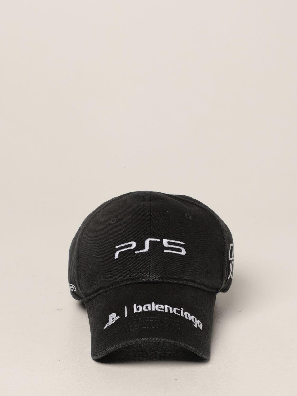 Cappello Balenciaga: Cappello da baseball Balenciaga con logo playstation nero 2