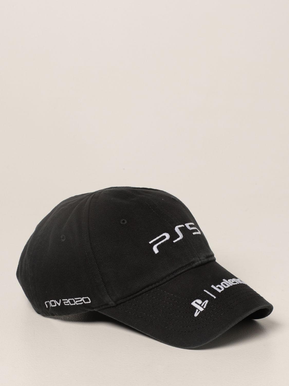 Cappello Balenciaga: Cappello da baseball Balenciaga con logo playstation nero 4