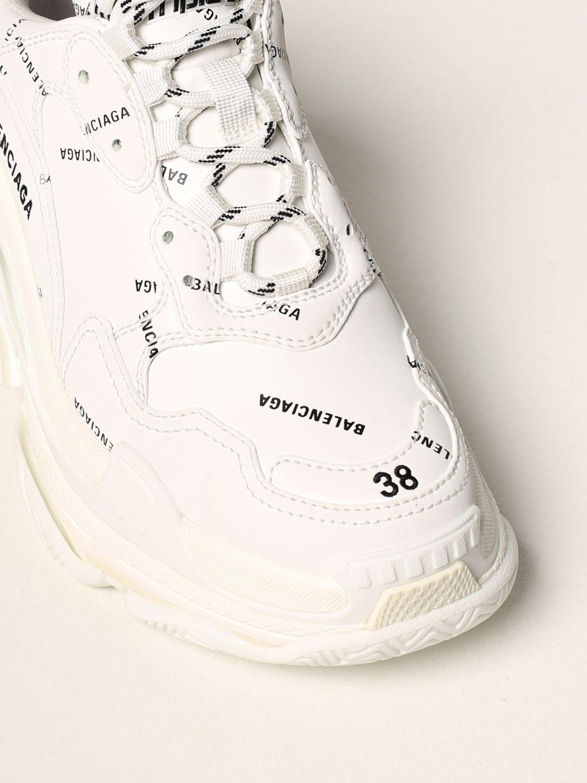 Sneakers Balenciaga: Sneakers Triple S Balenciaga con logo all over bianco 4