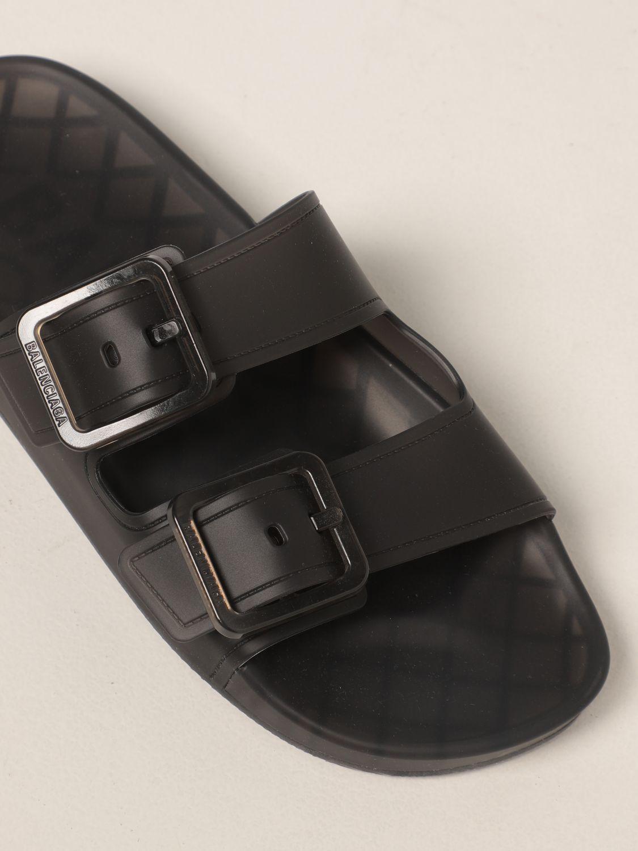 Sandalias planas Balenciaga: Zapatos mujer Balenciaga marrón 4