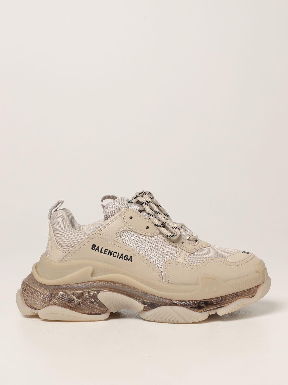 Sneakers Balenciaga: Sneakers Triple S clear sole Balenciaga beige 1