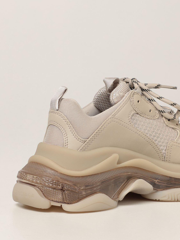 Sneakers Balenciaga: Sneakers Triple S clear sole Balenciaga beige 3