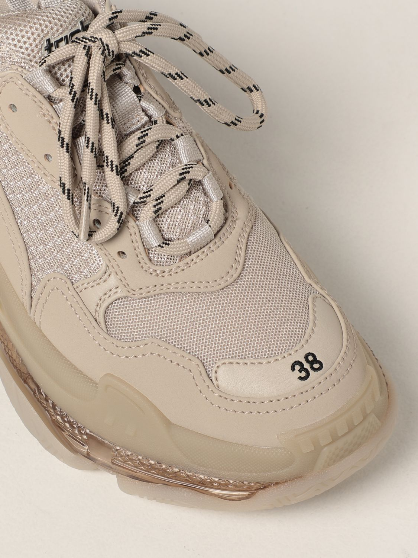 Sneakers Balenciaga: Sneakers Triple S clear sole Balenciaga beige 4