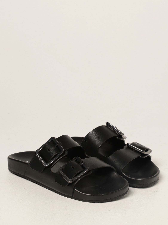 Flat sandals Balenciaga: Mallorca Balenciaga sandal in nappa leather black 2
