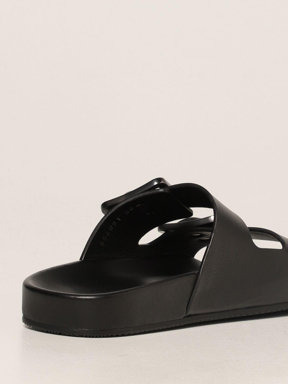 Flat sandals Balenciaga: Mallorca Balenciaga sandal in nappa leather black 3