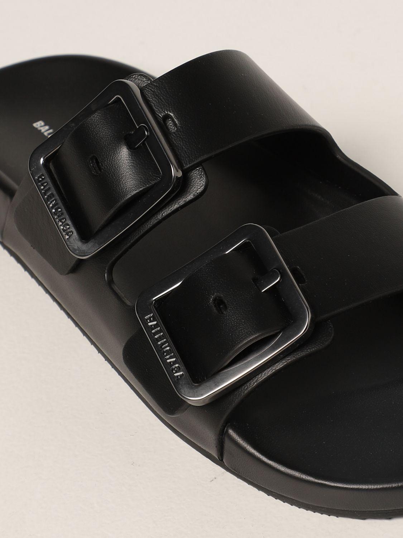 Flat sandals Balenciaga: Mallorca Balenciaga sandal in nappa leather black 4