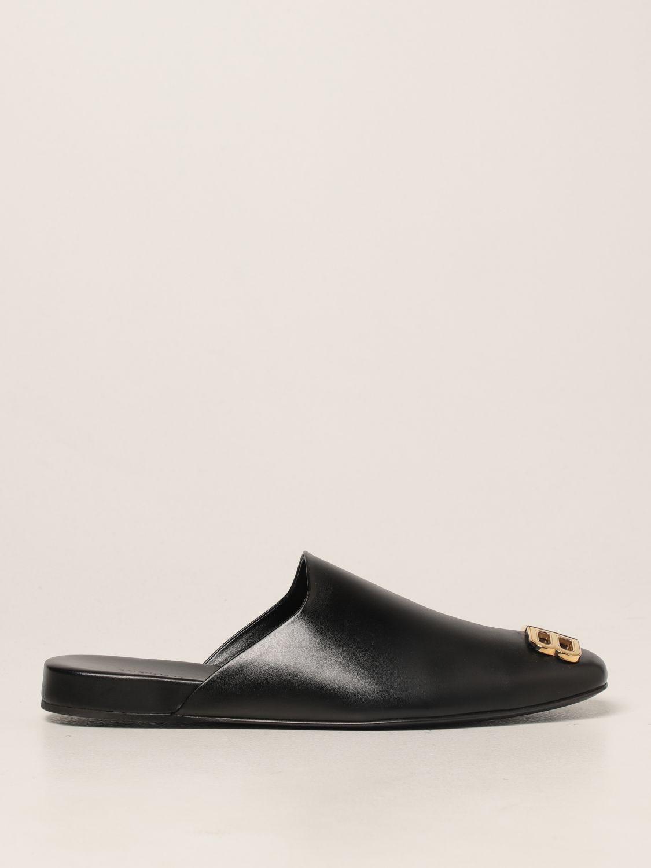 Flat shoes Balenciaga: Cozy Balenciaga leather mule black 1