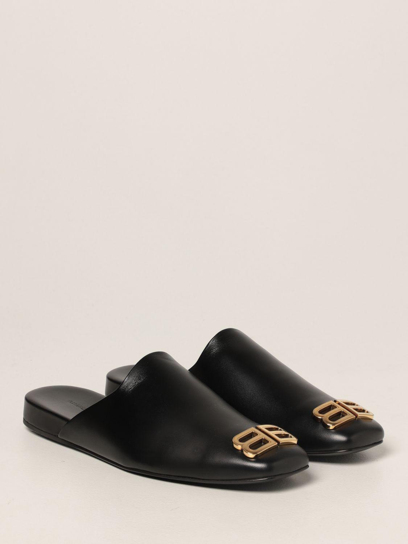 Flat shoes Balenciaga: Cozy Balenciaga leather mule black 2