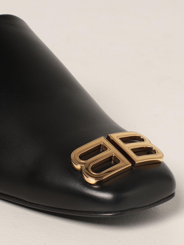 Flat shoes Balenciaga: Cozy Balenciaga leather mule black 4