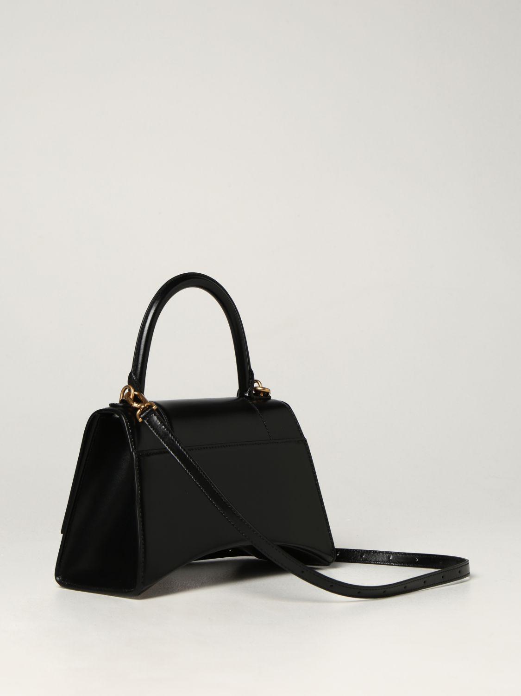 Borsa a mano Balenciaga: Borsa Hourglass top handle Balenciaga in pelle liscia nero 3