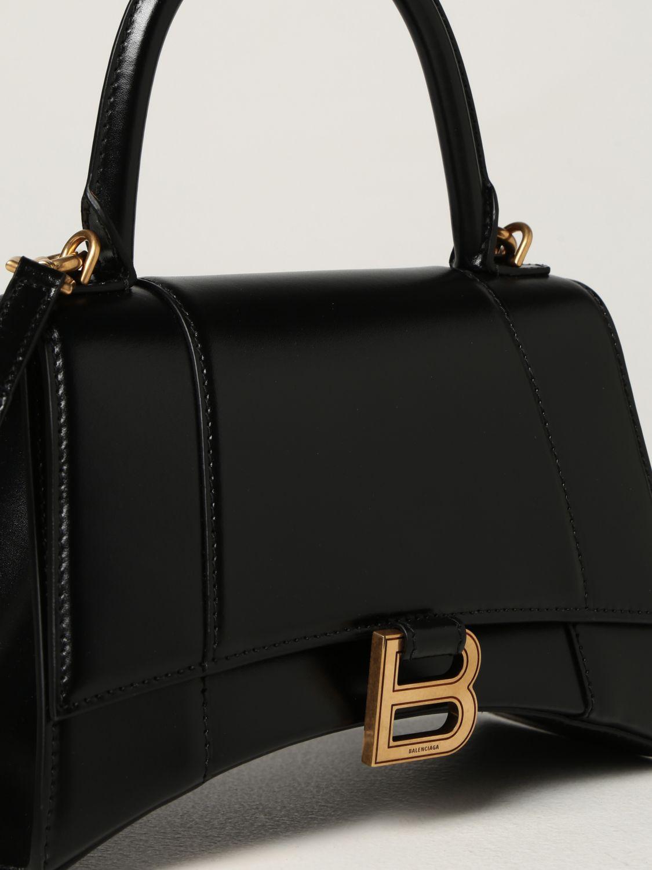 Borsa a mano Balenciaga: Borsa Hourglass top handle Balenciaga in pelle liscia nero 4